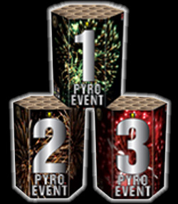 pyro event barrages